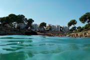 Playa Cala Esmeralda, vom Wasser her gesehen