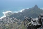Blick vom Tafelberg auf den Lion's Head