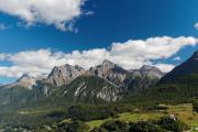 Blick auf die Engadiner Dolomiten