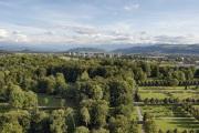 Schosshaldenfriedhof vom ehemaligen Swisscom-Tower aus