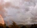 Sonnenuntergang mit doppeltem Regenbogen