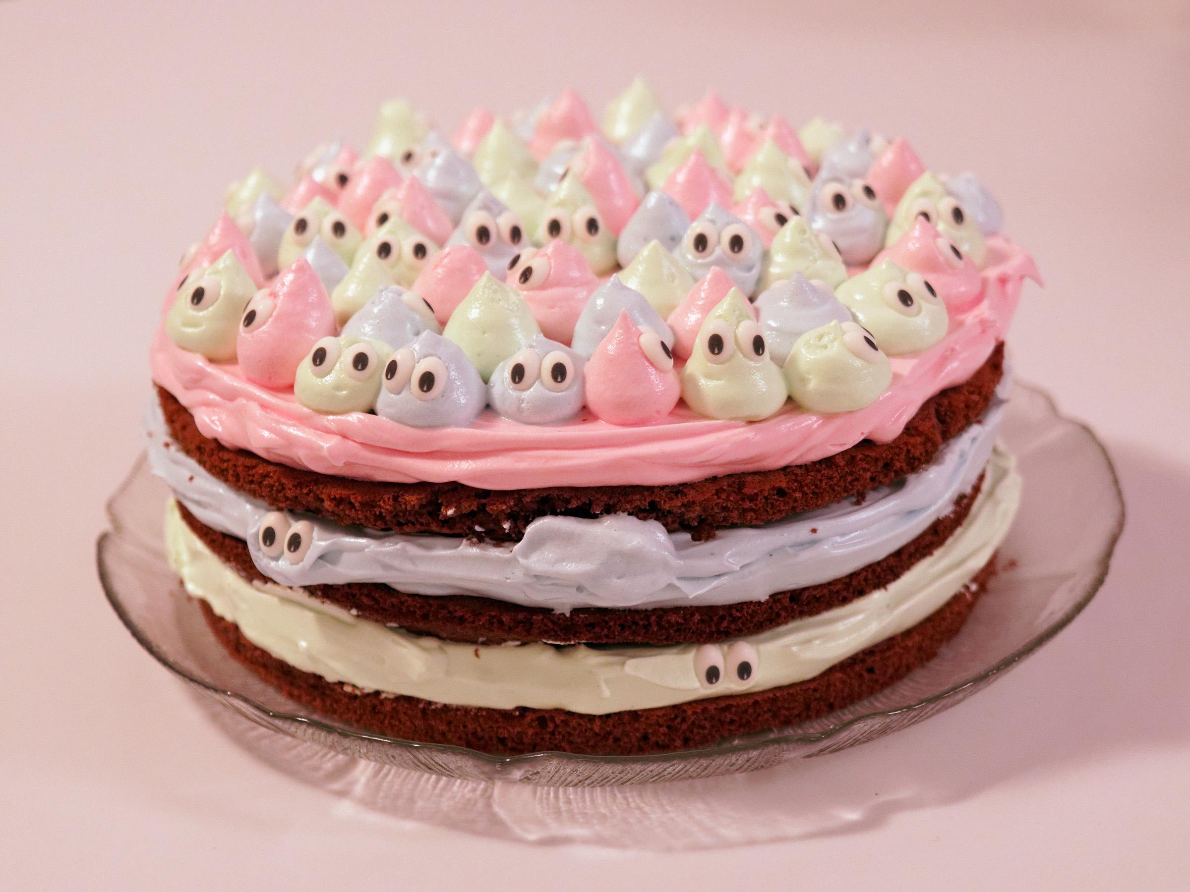 Kleine Monster Torte Mit Marshmallow Frosting Hohenauer Info