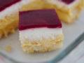 Himbeer-Puddingcreme-Schnitten